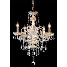 <strong>Elegant Lighting</strong> Princeton 5 Light Chandelier