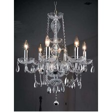 <strong>Elegant Lighting</strong> Princeton 6 Light Chandelier