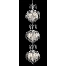 Spiral 9 Light  Chandelier