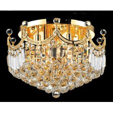 <strong>Elegant Lighting</strong> Corona 9 Light Flush Mount