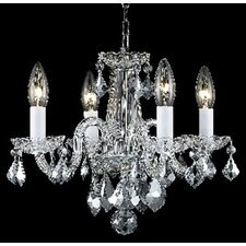 <strong>Elegant Lighting</strong> Rococo 4 Light Chandelier