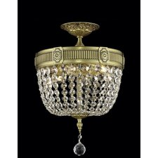 <strong>Elegant Lighting</strong> Esperanza 3 Light Ceiling or Semi Flush Mount