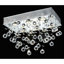 <strong>Elegant Lighting</strong> Galaxy 6 Light LED Ceiling or Semi Flush Mount