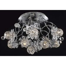 <strong>Elegant Lighting</strong> Iris 9 Light Semi Flush Mount