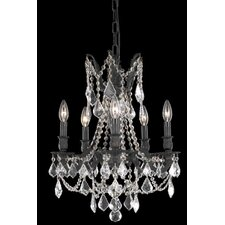 <strong>Elegant Lighting</strong> Rosalia 5 Light  Chandelier