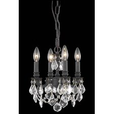 <strong>Elegant Lighting</strong> Lillie 4 Light  Chandelier