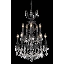 <strong>Elegant Lighting</strong> Marseille 10 Light Small Chandelier
