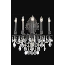 <strong>Elegant Lighting</strong> Monarch 5 Light Wall Sconce