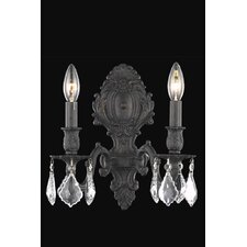 <strong>Elegant Lighting</strong> Monarch 2 Light Wall Sconce