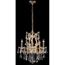 <strong>Elegant Lighting</strong> Maria Theresa 6 Light Chandelier