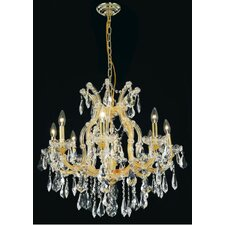 <strong>Elegant Lighting</strong> Maria Theresa  9 Light Chandelier