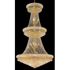 Primo 32 Light  Chandelier with 4 Crystal Trims
