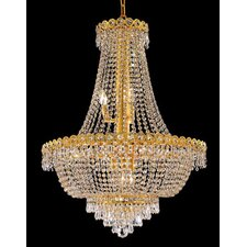 Century 12 Light Chandelier with Crystal