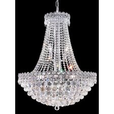 <strong>Elegant Lighting</strong> Century 12 Light Chandelier with 4 Crystal Trims