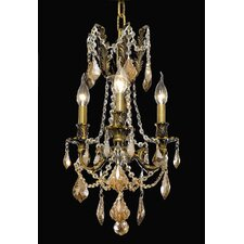 <strong>Elegant Lighting</strong> Rosalia 3 Light Chandelier