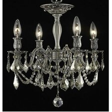 <strong>Elegant Lighting</strong> Rosalia 4 Light Ceiling Chandelier
