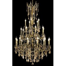 <strong>Elegant Lighting</strong> Rosalia 25 Light  Chandelier