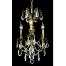 <strong>Elegant Lighting</strong> Marseille 3 Light Chandelier