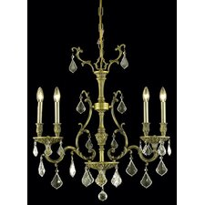 <strong>Elegant Lighting</strong> Monarch 4 Light Chandelier