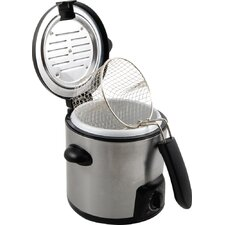 KitchenWorthy .9 Liter Stainless Steel Deep Fryer