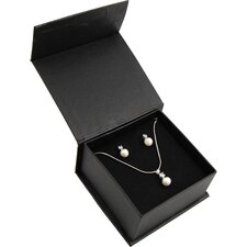 Freshwater Pearl and Cubic Zirconia Pendant Necklace and Stud Earrings