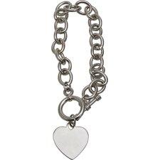 Toggle Heart Link Bracelet