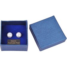 Bret Roberts Round Cut Freshwater Cultured Pearl Stud Earrings