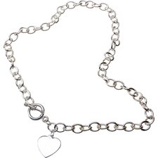 Bret Roberts Toggle Heart Charm Necklace