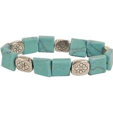 Bret Roberts Square Cut Turquoise Strand Bracelet