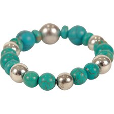 Bret Roberts Round Cut Turquoise Beaded Strand Bracelet