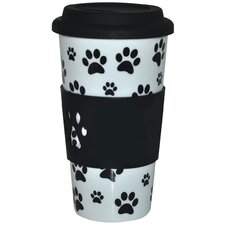 KitchenWorthy Paw Print Insulated Tumbler