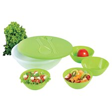 "KitchenWorthy 9.24"" 8 Piece Salad and Serving Set"