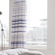 Knitted Stripe Curtain Panel Pair
