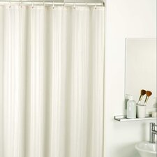 Satin Stripe Shower Curtains in Natural