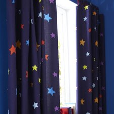 Outer Space Lined Tab Top Curtains