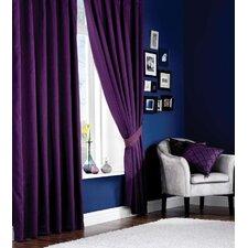 Designer Plain Lined Pencil Pleat Curtain Set
