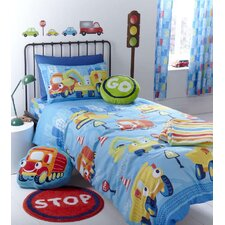 Kids Trucks Single Duvet Set