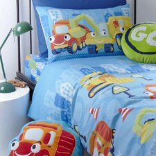 Kids Trucks Fitted Sheet