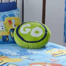Kids Trucks Stop Sign Single Cushion