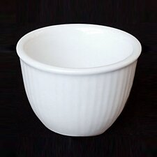 Large Ribbed Custard Cup