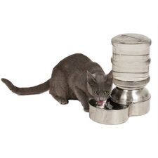 Stainless Steel Replendish Small Pet Water Dispenser
