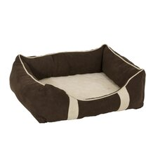 Foam and Fiber Lounger Dog Bed in Assorted