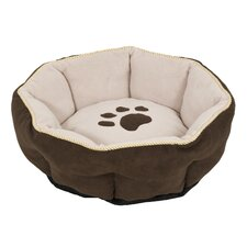 18 Sculptured Round Dog Bed in Assorted
