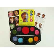 Sparkle Rainbow 8 Color Face Paint Kit with Brush and Sponge
