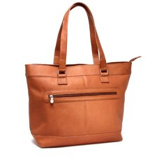 Laptop Zipper Leather Briefcase Tote Bag