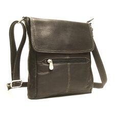 <strong>Le Donne Leather</strong> Front Flap Cross Body Bag