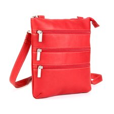 Triple Zip Cross Body Bag