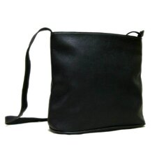 <strong>Le Donne Leather</strong> Vacquetta Zip Top Shoulder Bag