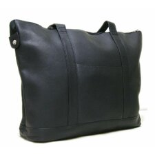 <strong>Le Donne Leather</strong> Double Strap Medium Pocket Tote Bag