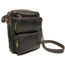 Distressed Leather Men's Multi Pocket iPa /E-Reader Bag